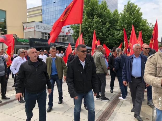 Protest veterana OVK u centru Prištine