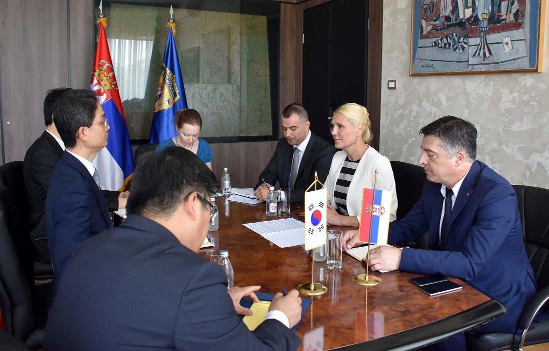 Popović Ivković sa ambasadorom Južne Koreje o Interpolu i KiM