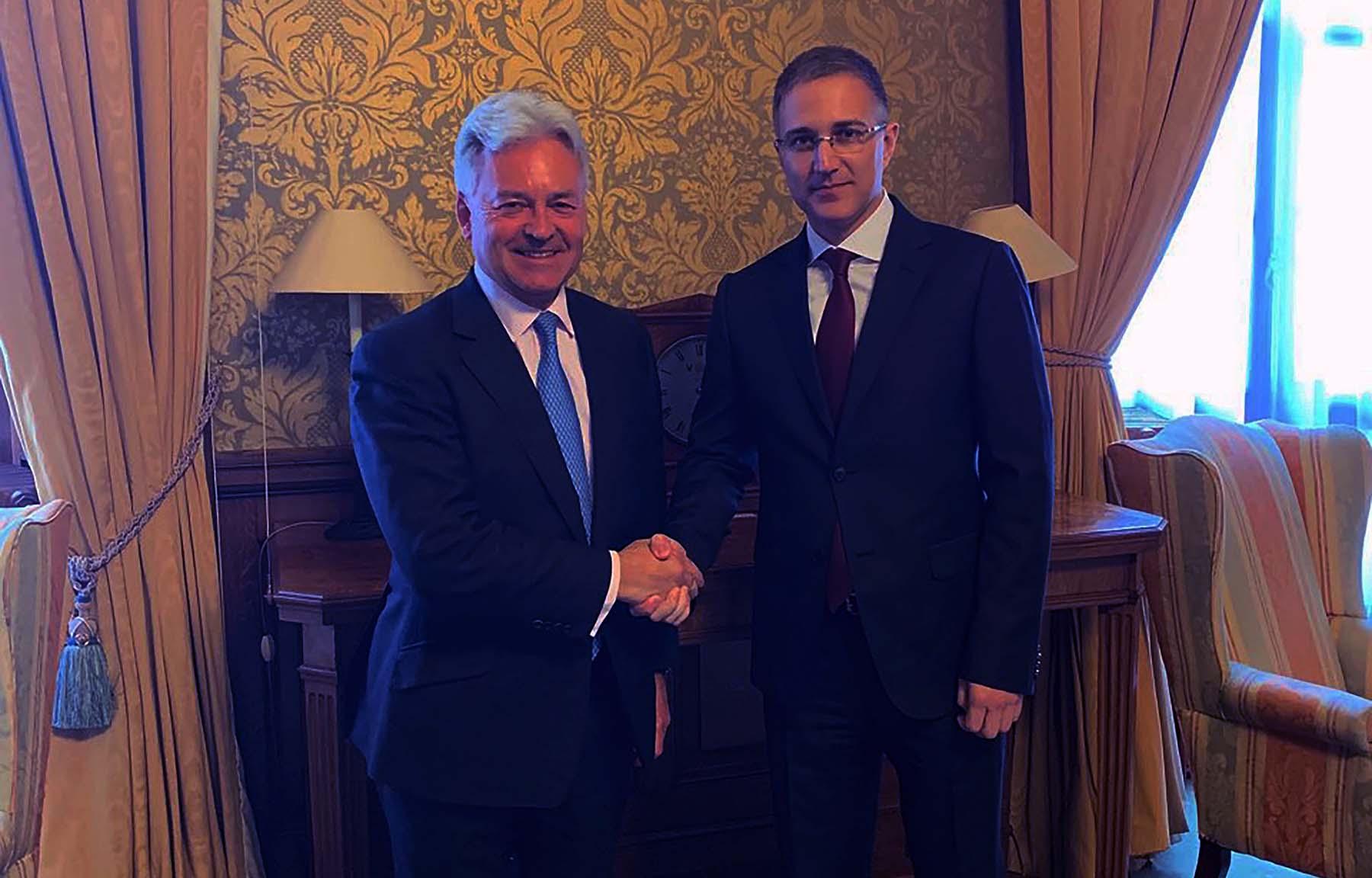 Stefanović sa britanskim ministrima o unapređenju saradnje