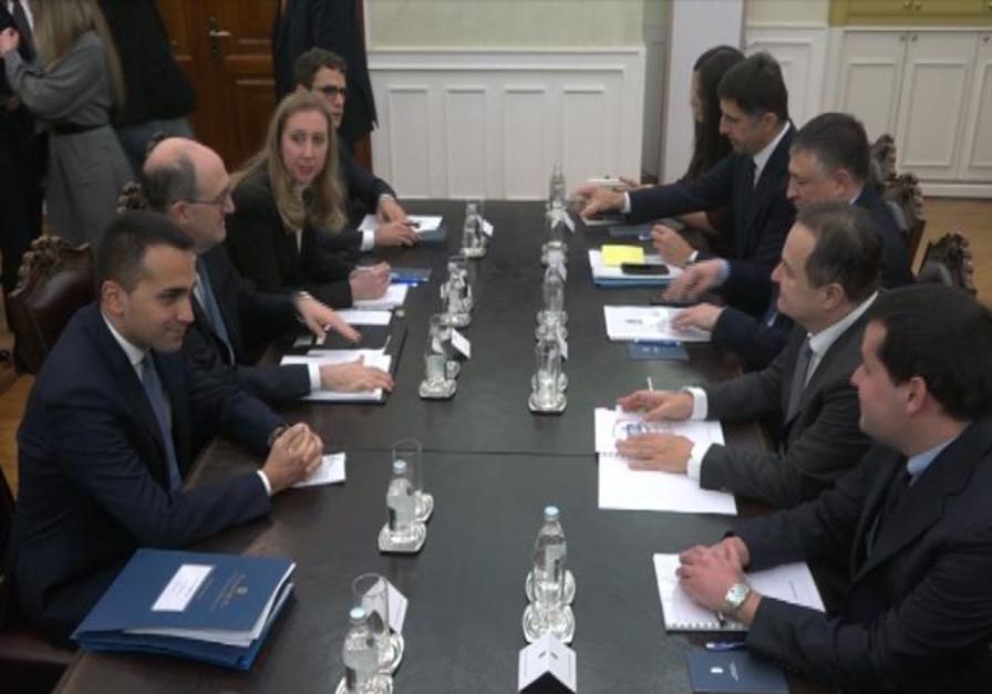 Dačić i Di Majo:Italija snažno podržava Srbiju na putu ka EU