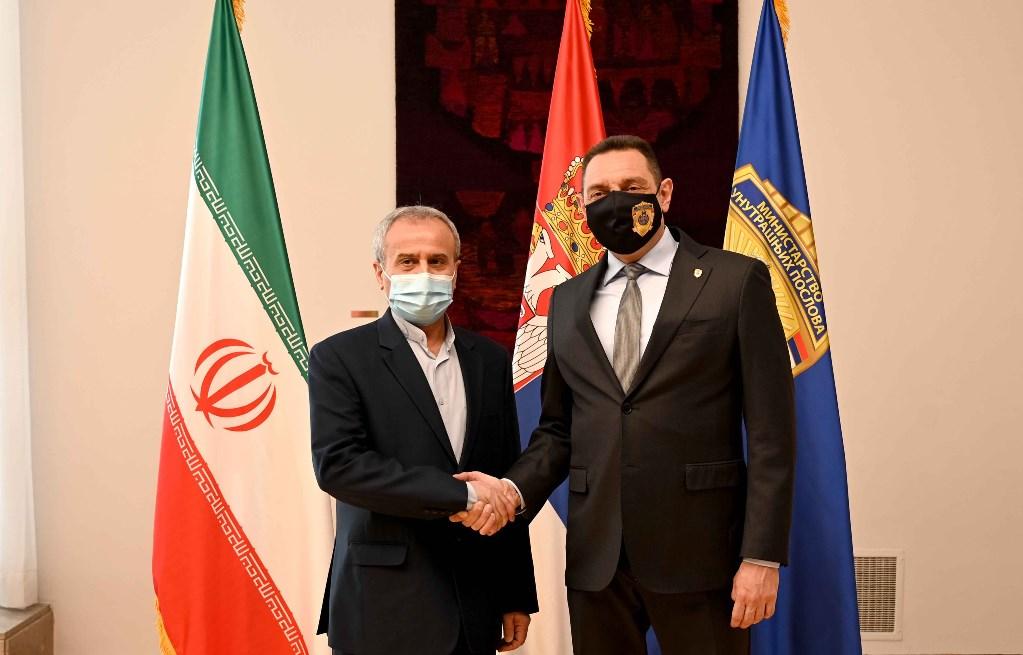 Vulin sa ambasadorom Irana o unapređenju policijske saradnje