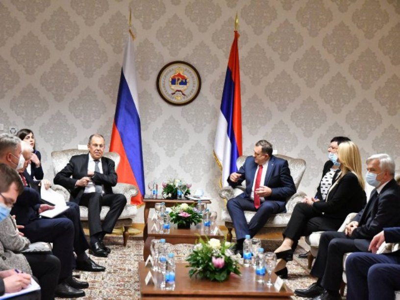 Sastanak Lavrova sa Dodikom i rukovodstvom Srpske