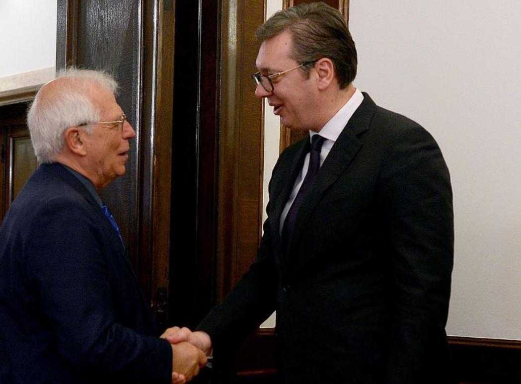 Borelj sutra u Beogradu, susret sa Vučićem i Brnabićevom