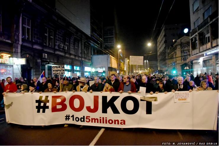 Šezdeseti protest u Beogradu