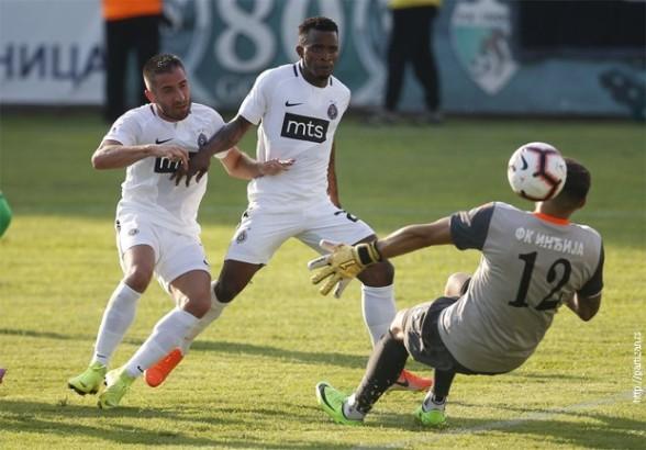 Jedan gol, tri boda - Partizan savladao Inđiju