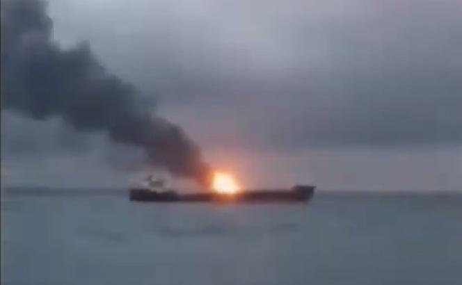 Požar u Kerčkom moreuzu ne ugrožava druge brodove