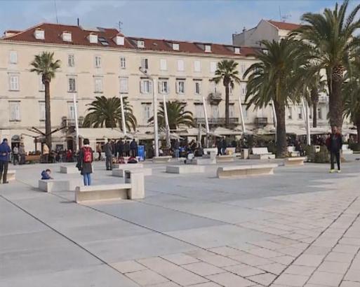 U centru Splita osvanuli ustaški grafiti