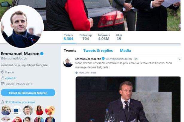 Makron Vučiću na instagramu: Veliko hvala