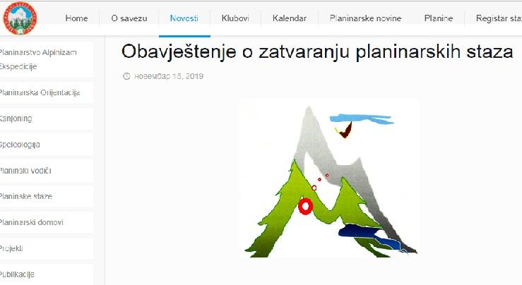 Privremeno zatvorene planinarske staze u Crnoj Gori