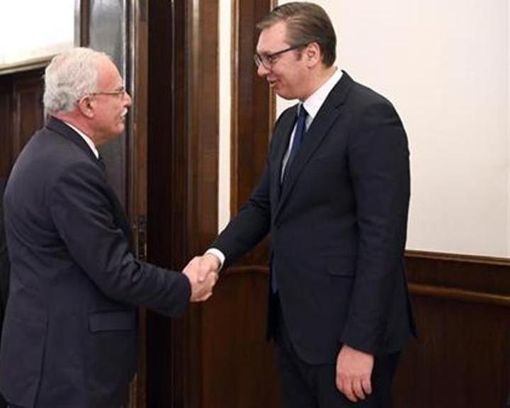 Vučić s palestinskim ministrom o bilateralnim odnosima