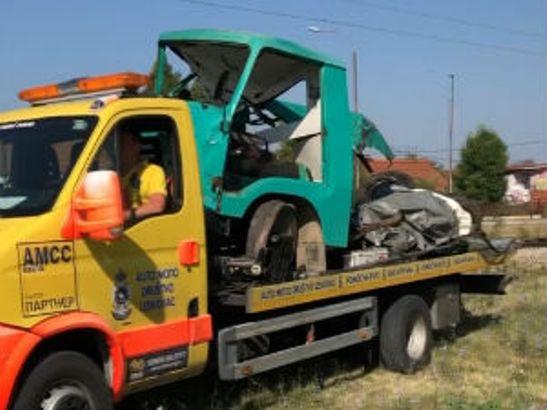 Teretni voz naleteo na kamion kod Leskovca