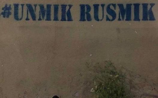 U Prištini osvanuli grafiti protiv Unmika