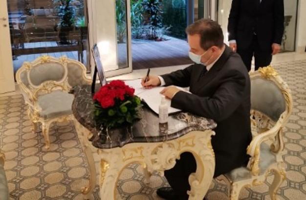 Dačić se upisao u knjigu žalosti povodom smrti Akbuluta