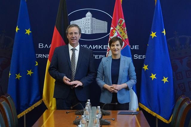 Brnabić: Podrška Nemačke u reformskom procesu i evropskim integracijama od izuzetnog značaja za Srbiju