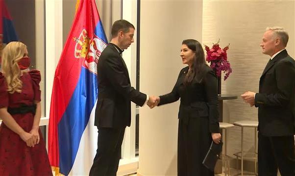 Đurić organizovao prijem u čast Abramović i 140 godina diplomatskih odnosa Srbije i SAD