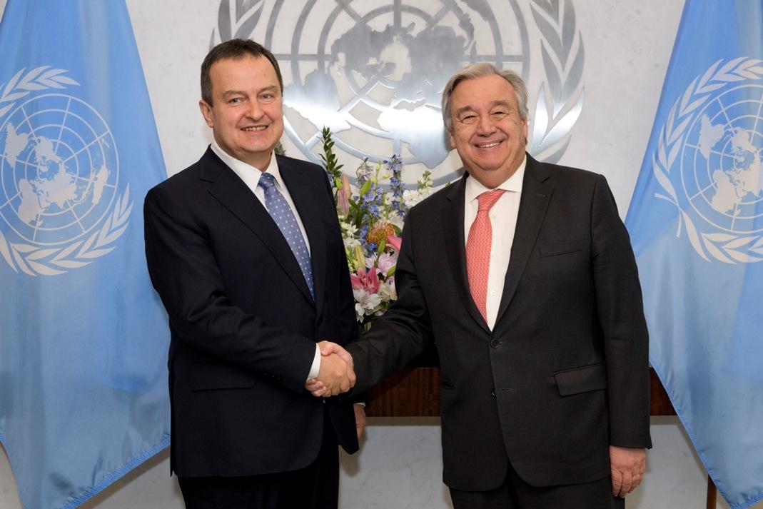 Dačić se sastao sa Guterešom uoči sednice SB UN