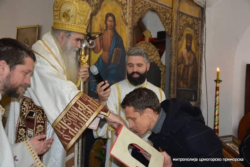 Selektor Vladimir Gojković u Cetinjskom manastiru