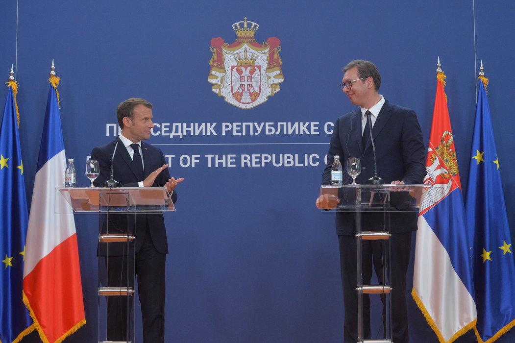 Vučić zamolio Makrona za pomoć na EU putu i rešavanju krize na Kosovu