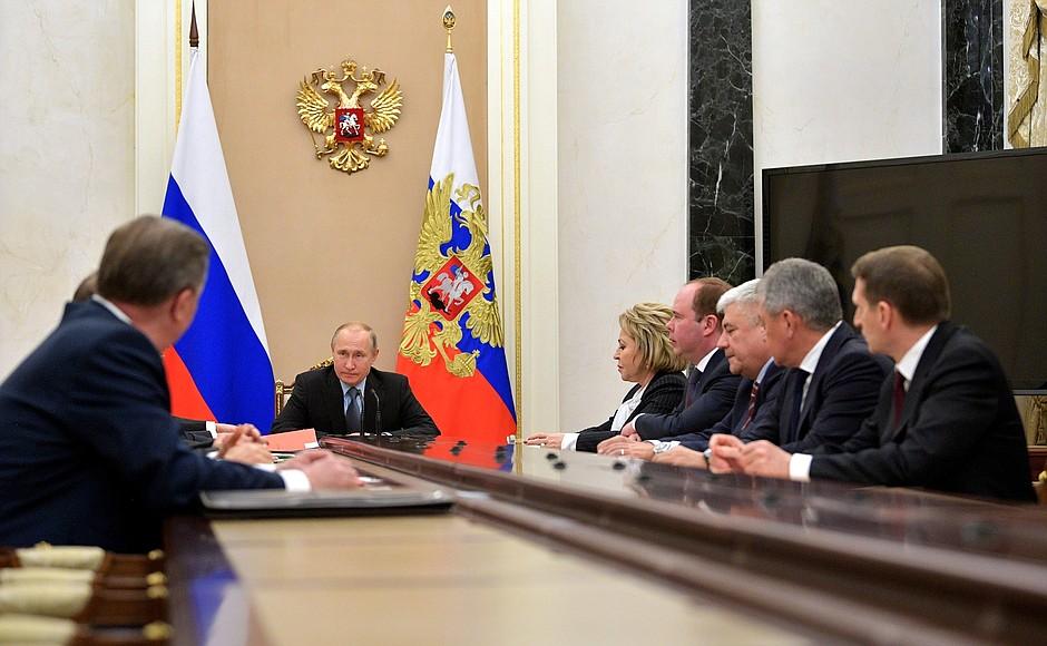 Putin na sastanku ruskog Saveta bezbednosti o poseti Srbiji