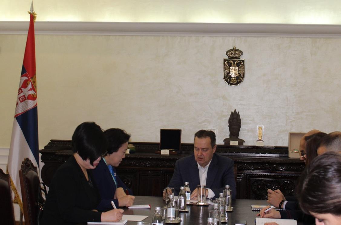 Dačić i Čen Bo o strateškom partnerstvu i  saradnji Kine i Srbije