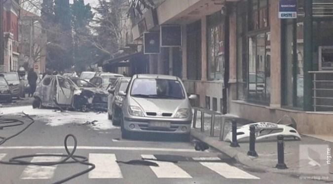 Eksplodirao automobil u centru Podgorice