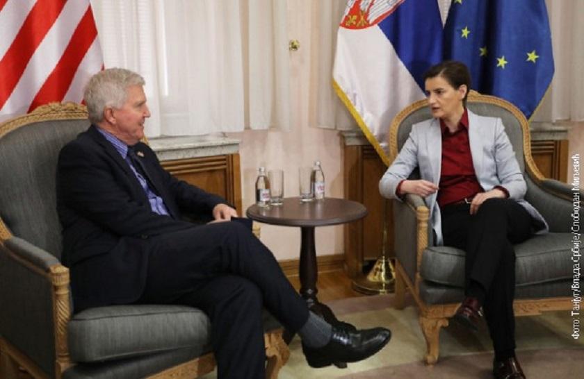 Brnabićeva i Skot o proširenju saradnje sa SAD i nastavku dijaloga sa Prištinom