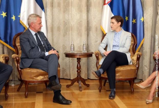 Brnabićeva sa Havistom o razvoju saradnje Srbije i Finske