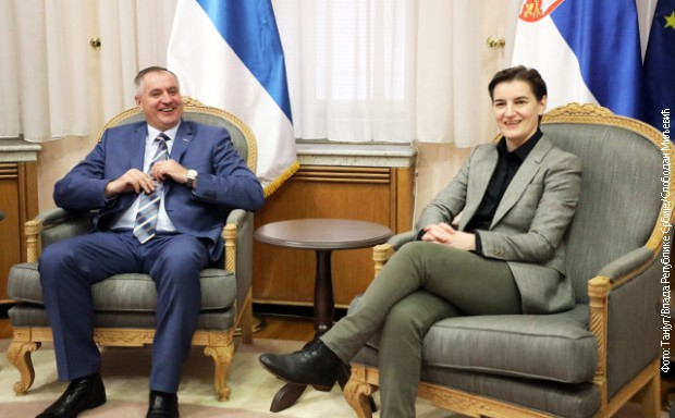 Brnabićeva sa premijerom Republike Srpske
