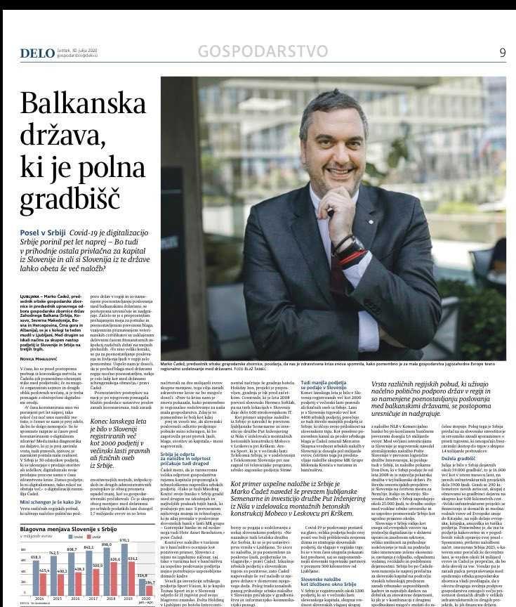 """Ljubljansko """"Delo"""": Srbija zemlja puna gradilišta"""