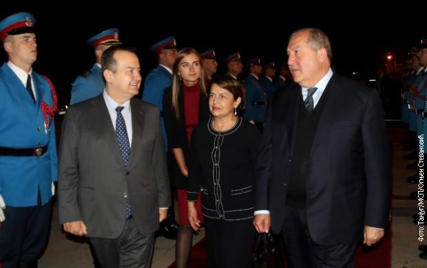 Dačić ispratio predsednika Jermenije