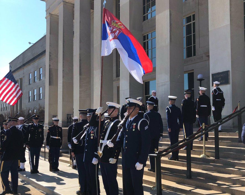 Godfri: Zastave Srbije i SAD vijorile se zajedno u Pentagonu