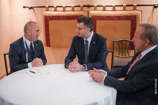 Plenković obećao dalju podršku Hrvatske Prištini