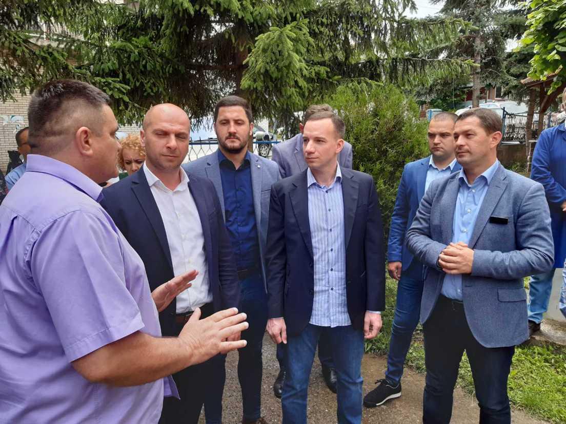 Damjan Jović u poseti opštini Leposavić