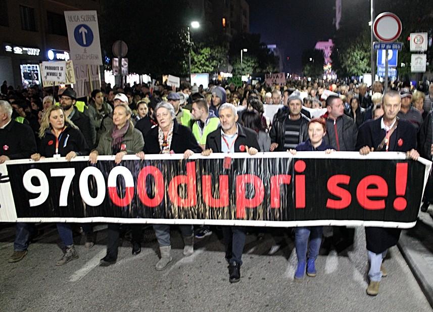 Održan četvrti protest u Podgorici