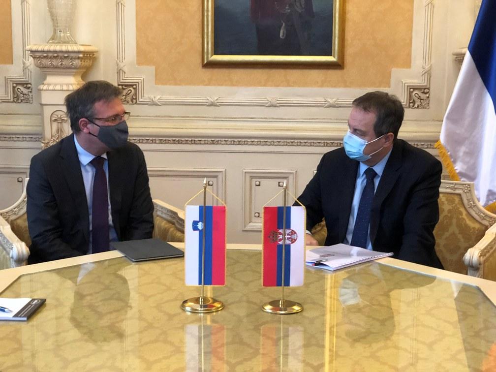 Dačić sa ambasadorom Slovenije o razvoju parlamentarne saradnje