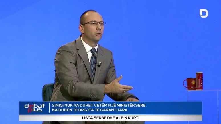 Simić: Kurti ne brani Srpsku listu, već svoja tri mandata