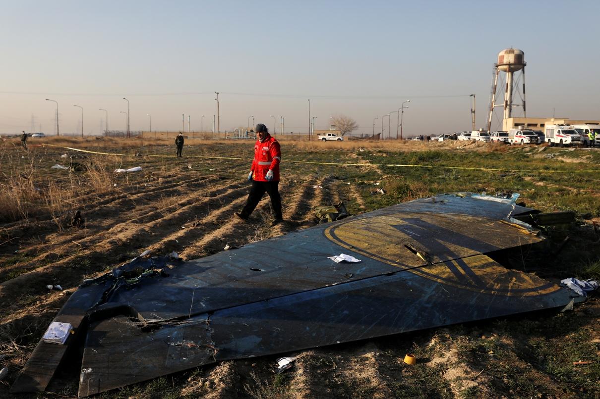 Iran: Ukrajinski istražitelji ispituju delove olupine aviona
