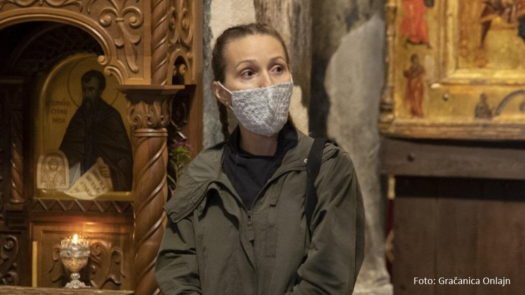 Jelena Đoković u poseti Gračanici, obići će i druge manastire na KiM
