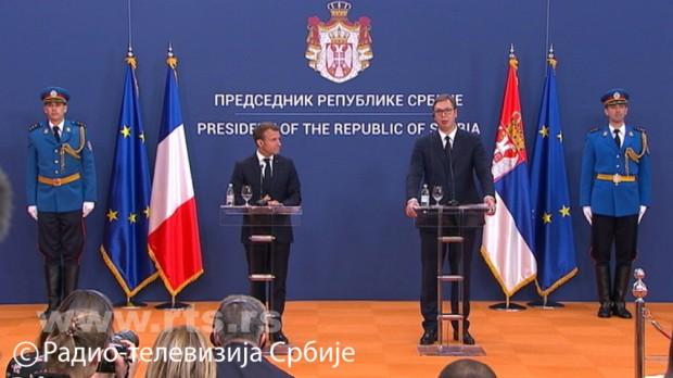 Vučić: Nikada nisam imao tako otvoren i iskren razgovor kao sa Makronom