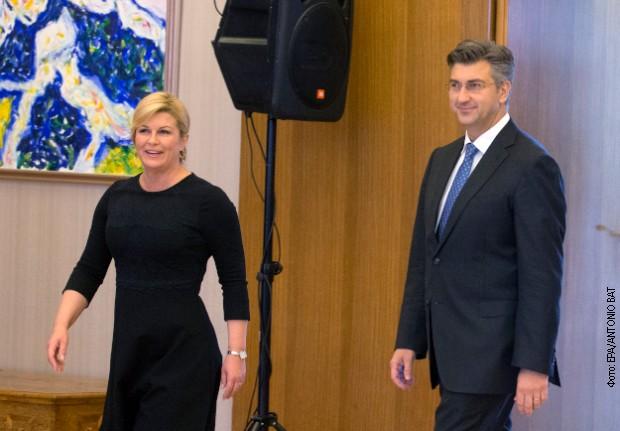 Kitarovićeva i Plenković o vukovarskom veću i ćirilici