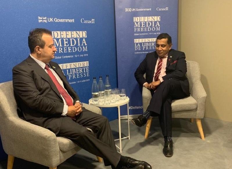 Srbija podržava zajedničku izjavu Konferencije za slobodu medija