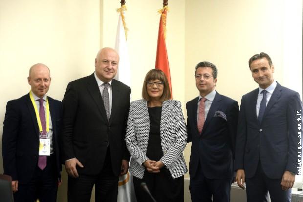 Gojkovićeva sa predsednikom Parlamentarne skupštine OEBS-a