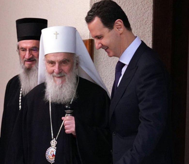 Predsednik Sirije primio patrijarha Irineja