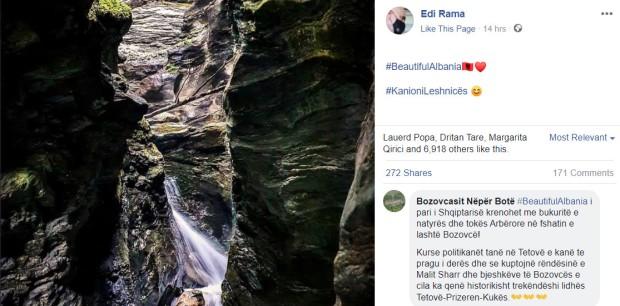 Rama predstavlja prirodne lepote Severne Makedonije kao albanske