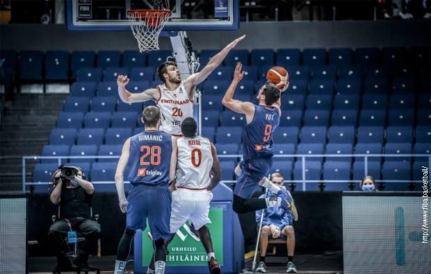 Košarkaši Srbije poraženi u meču sa Švajcarskom