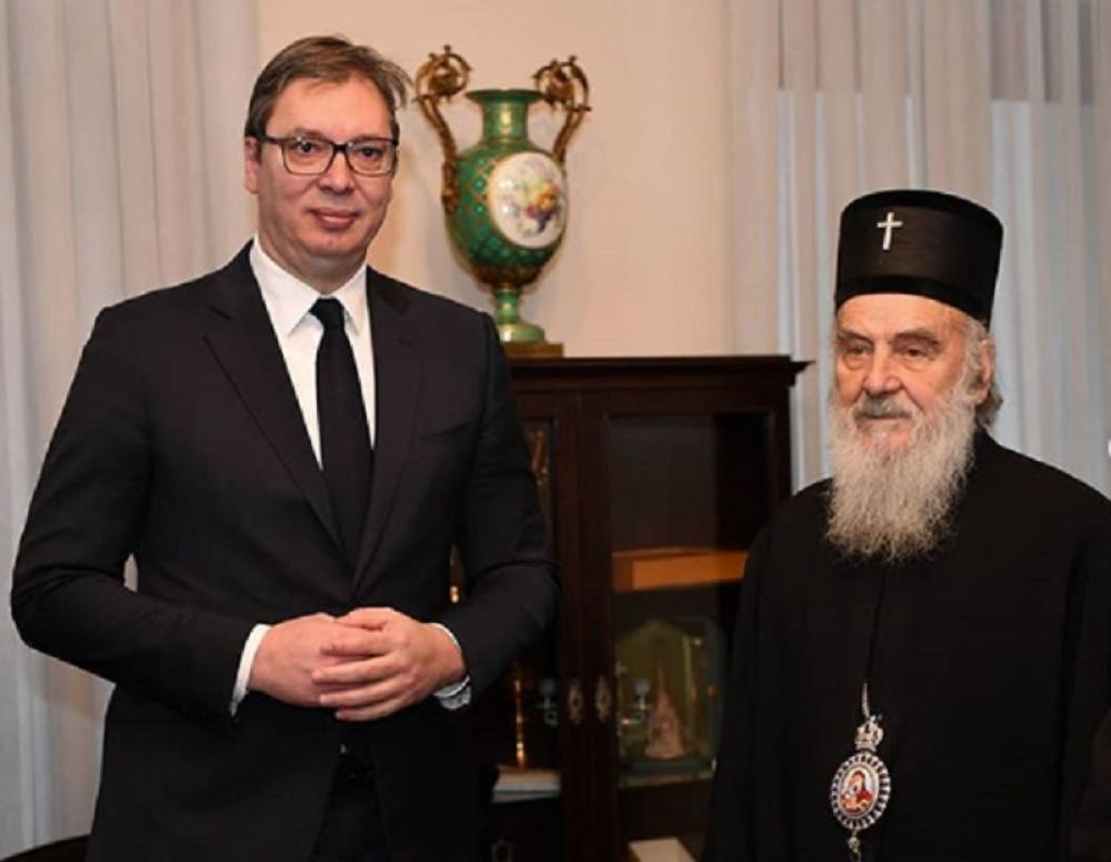 Vučić: Bez Irineja Hram bismo gradili kao Skadar na Bojani