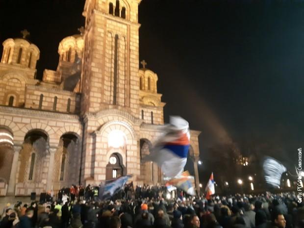 Litija i moleban u Beogradu za pravoslavne vernike u Crnoj Gori