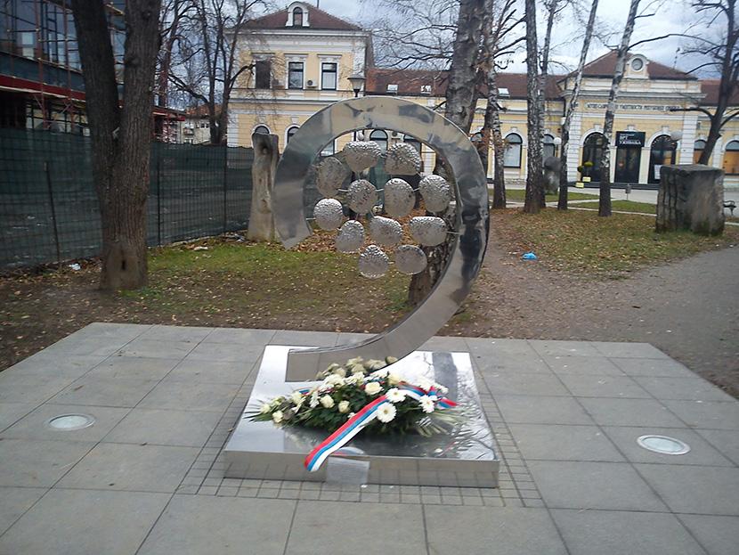 Banjaluka: Delegacija Srba sa KiM polaže venac na spomenik
