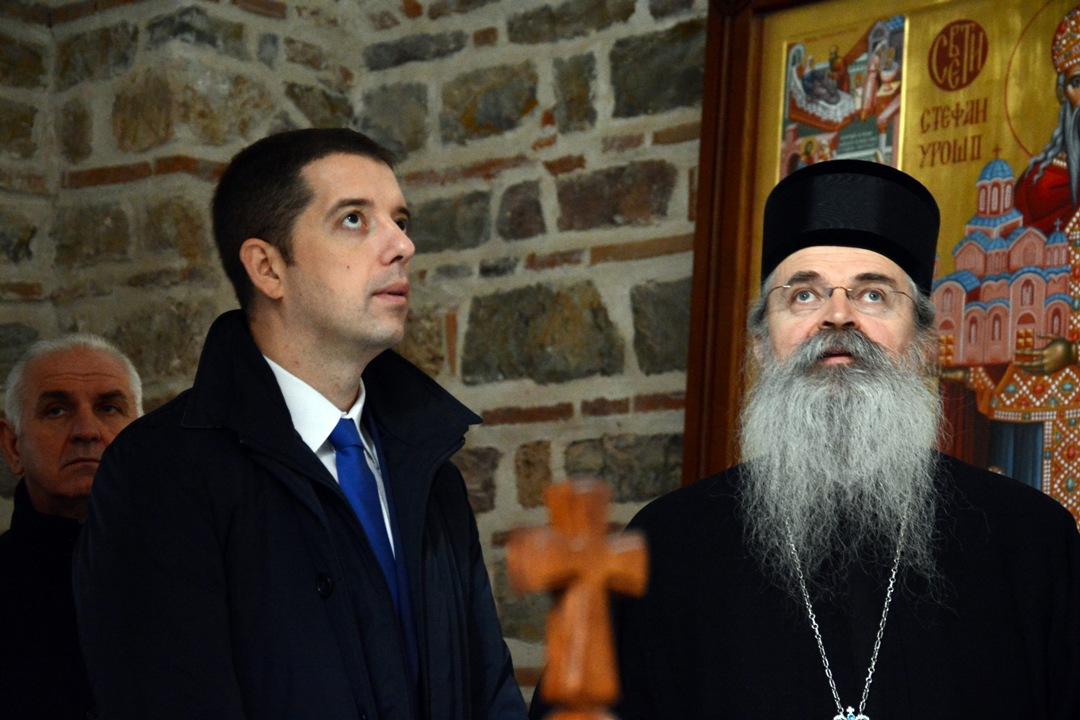 Đurić sa vladikom Teodosijem obišao manastir Banjska