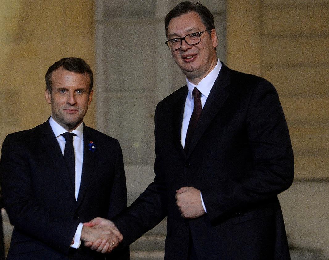 Vučić posle sastanka sa Makronom: Srdačan, dobar, otvoren i prijateljski razgovor